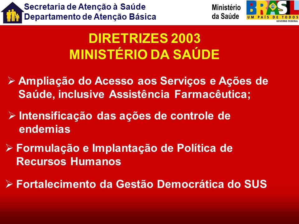 DIRETRIZES 2003 MINISTÉRIO DA SAÚDE