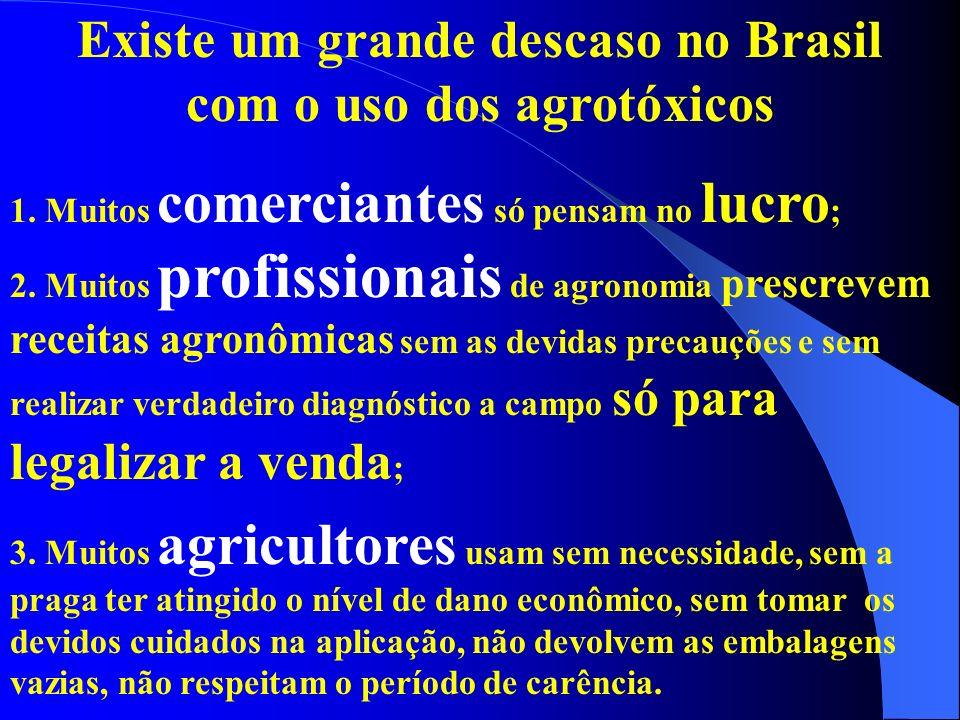 Existe um grande descaso no Brasil com o uso dos agrotóxicos