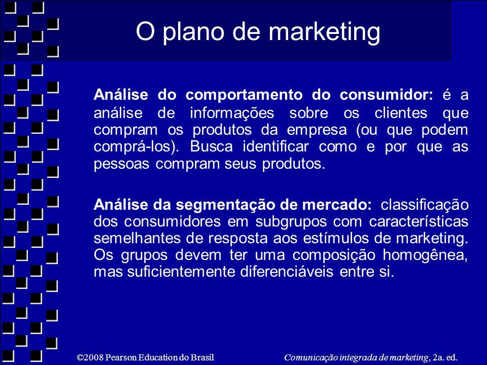 O plano de marketing