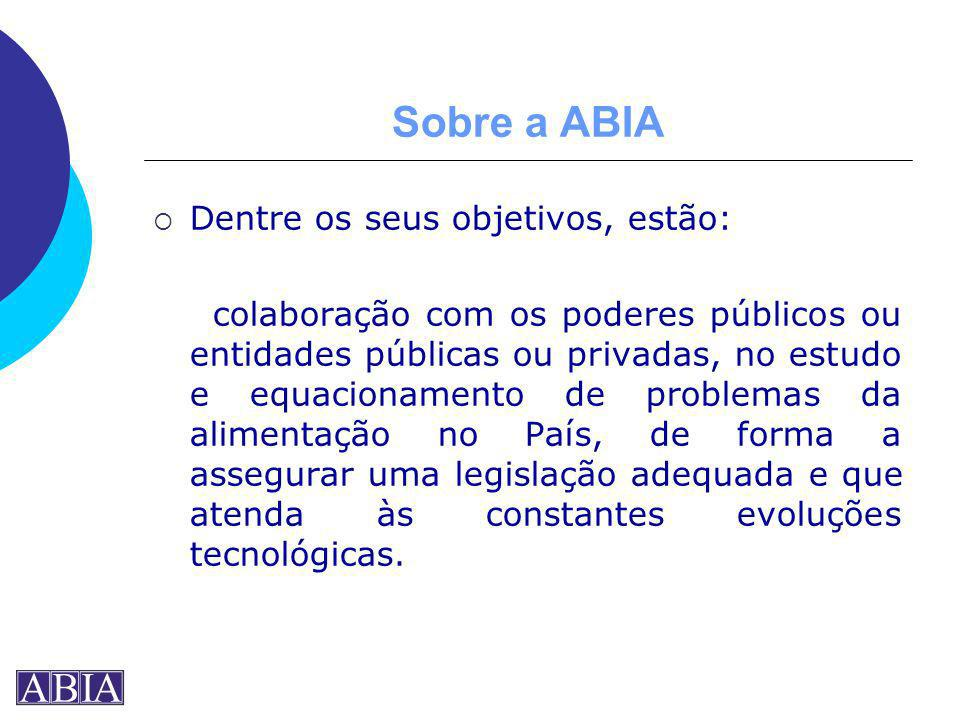 Sobre a ABIA Dentre os seus objetivos, estão: