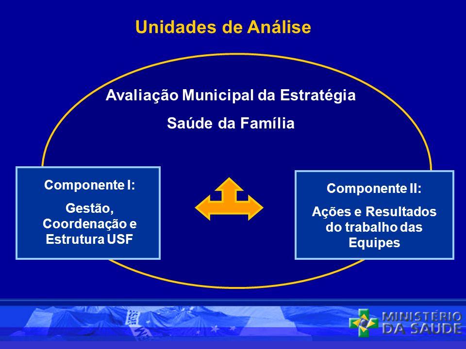 Unidades de Análise Avaliação Municipal da Estratégia Saúde da Família