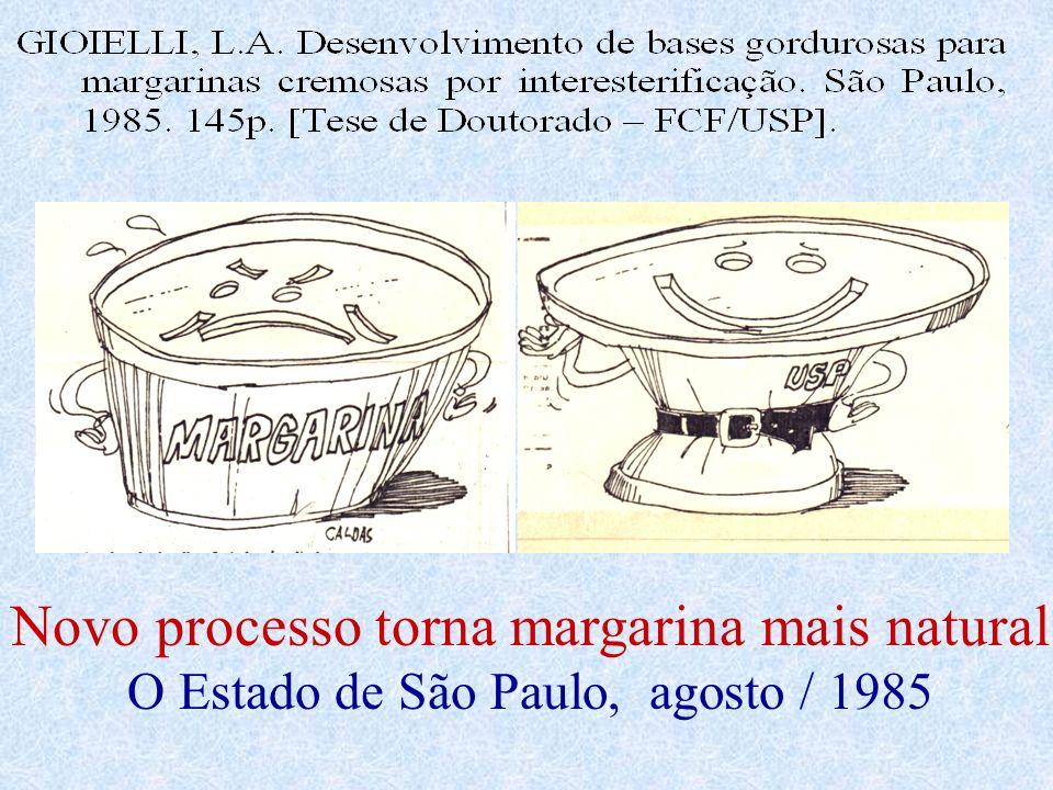 Novo processo torna margarina mais natural