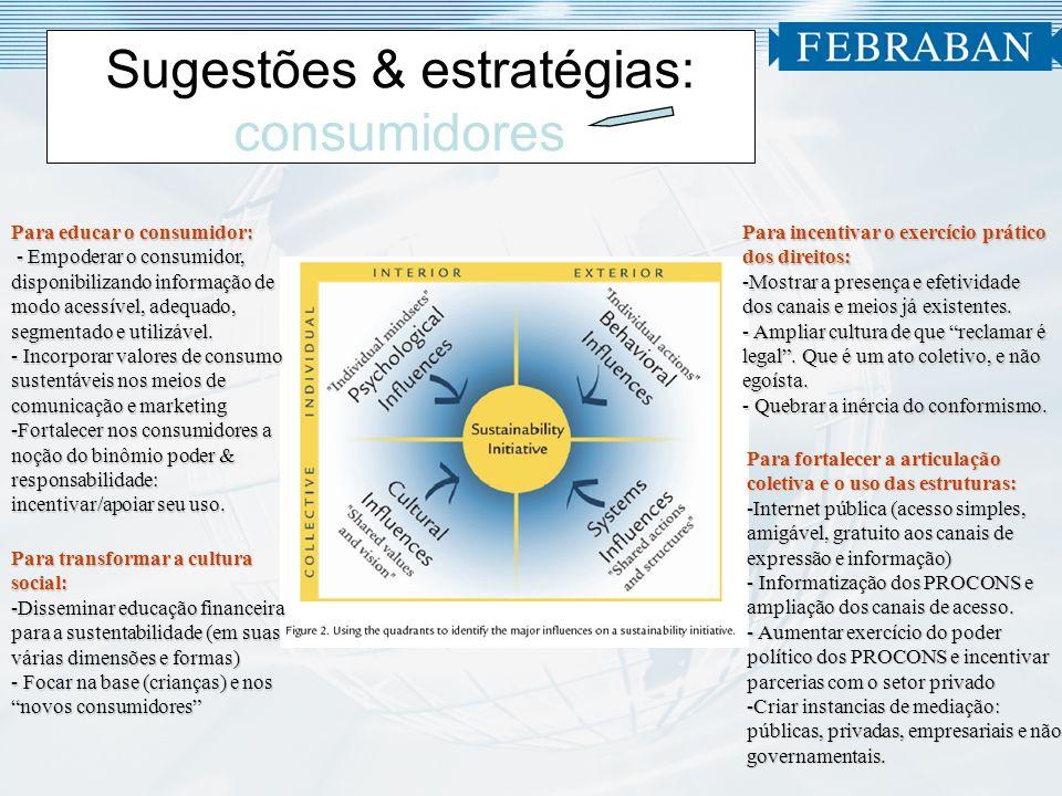 Sugestões & estratégias: consumidores