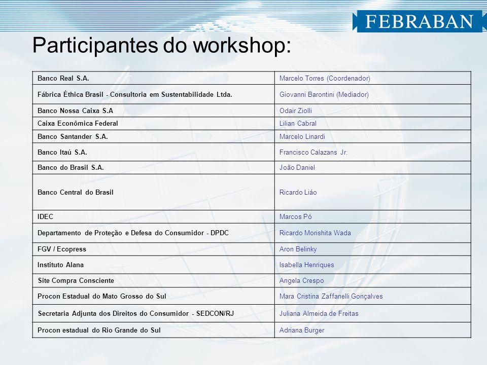 Participantes do workshop: