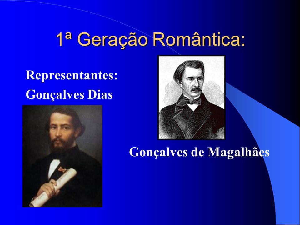 1ª Geração Romântica: Representantes: Gonçalves Dias