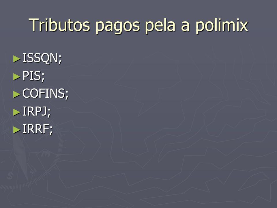 Tributos pagos pela a polimix