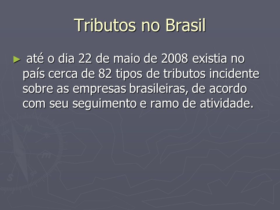 Tributos no Brasil