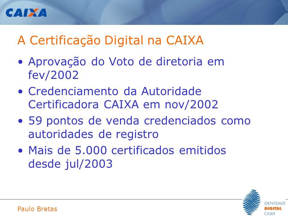 A Certificação Digital na CAIXA