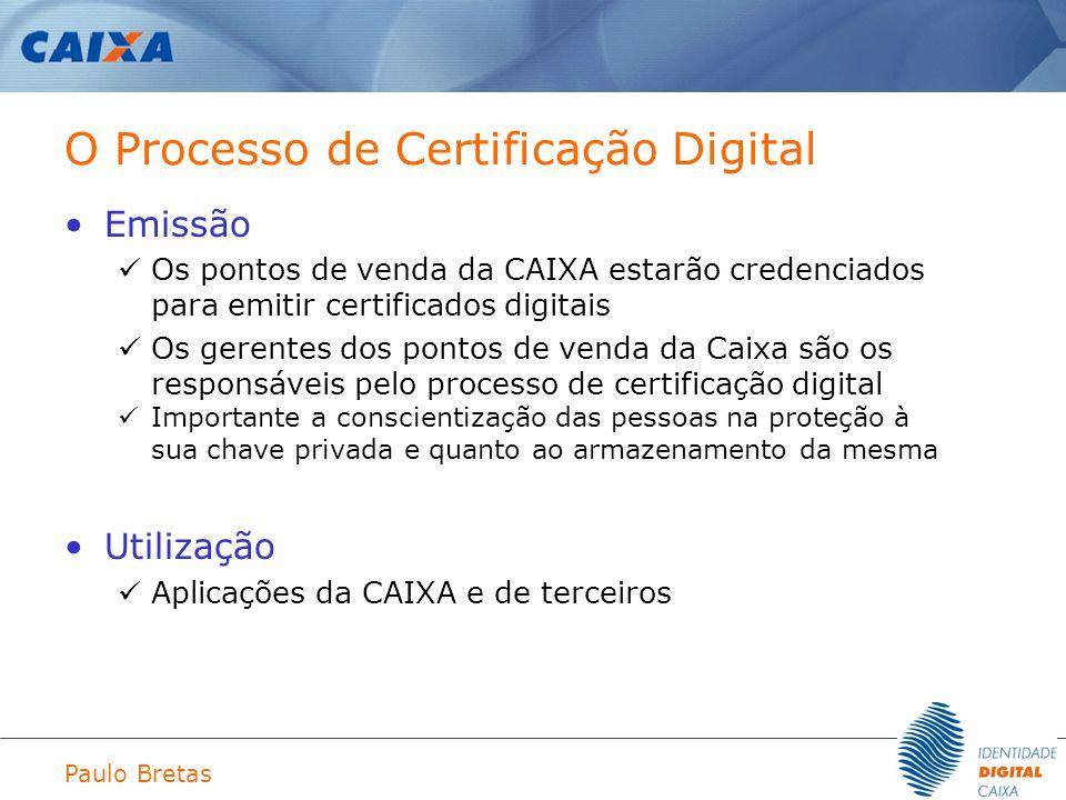 O Processo de Certificação Digital