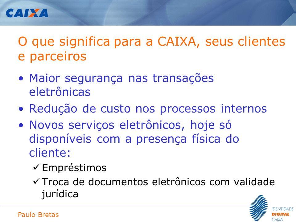 O que significa para a CAIXA, seus clientes e parceiros