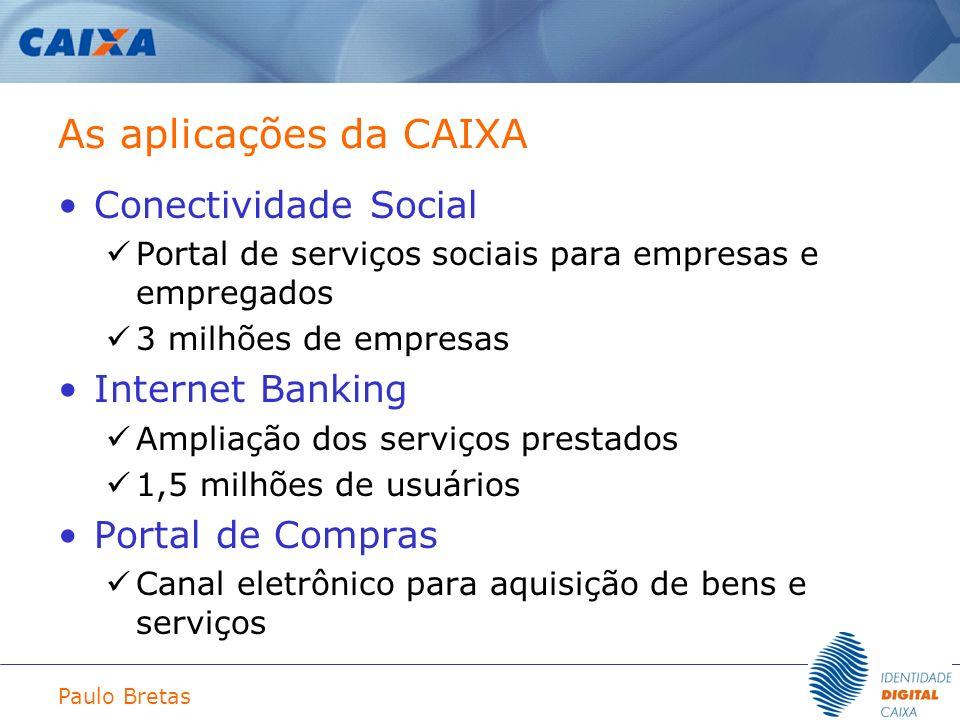 As aplicações da CAIXA Conectividade Social Internet Banking