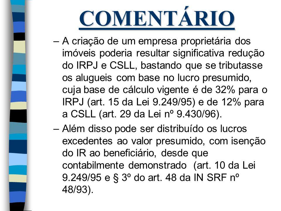 COMENTÁRIO