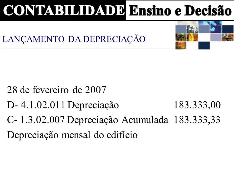 C- 1.3.02.007 Depreciação Acumulada 183.333,33