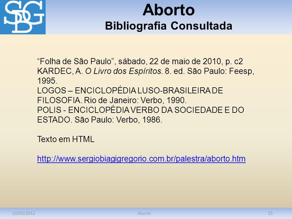Aborto Bibliografia Consultada