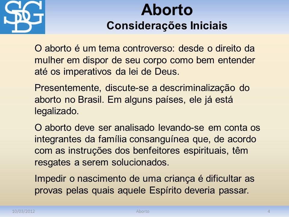 Aborto Considerações Iniciais