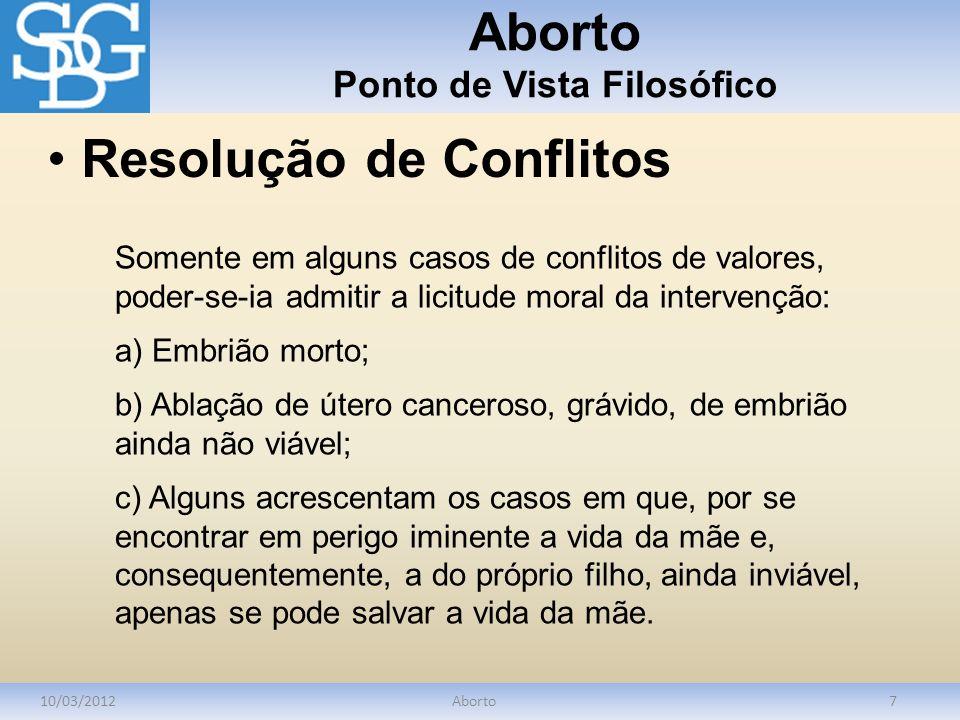 Aborto Ponto de Vista Filosófico
