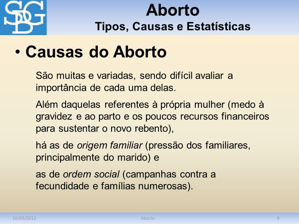 Aborto Tipos, Causas e Estatísticas