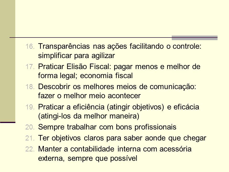Transparências nas ações facilitando o controle: simplificar para agilizar