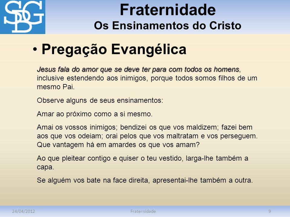 Fraternidade Os Ensinamentos do Cristo
