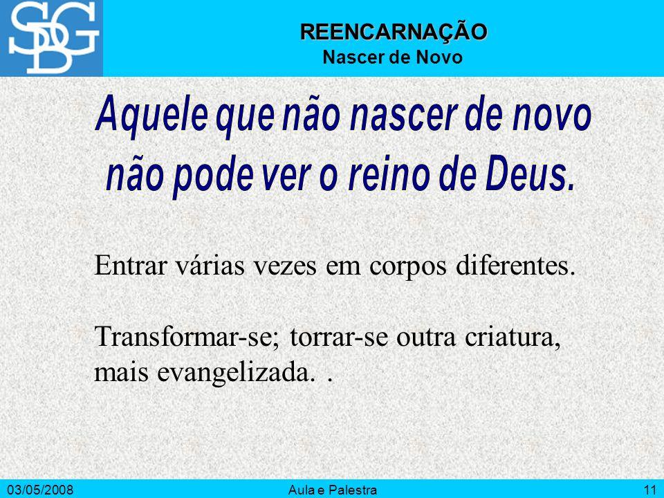 Aquele que não nascer de novo não pode ver o reino de Deus.
