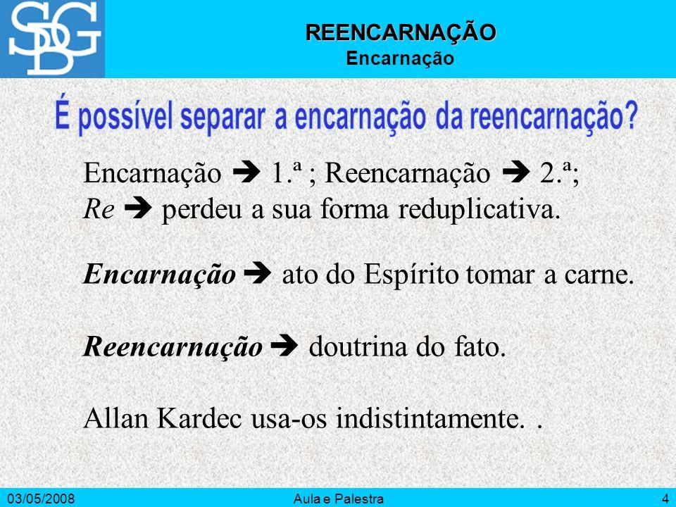 É possível separar a encarnação da reencarnação