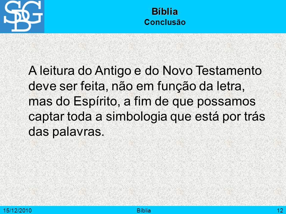 Bíblia Conclusão.