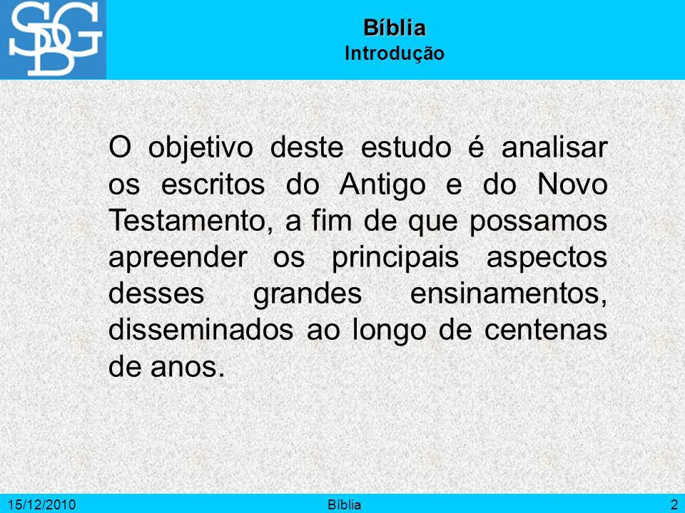 Bíblia Introdução.