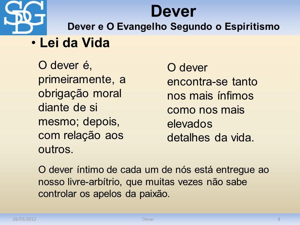 Dever Dever e O Evangelho Segundo o Espiritismo