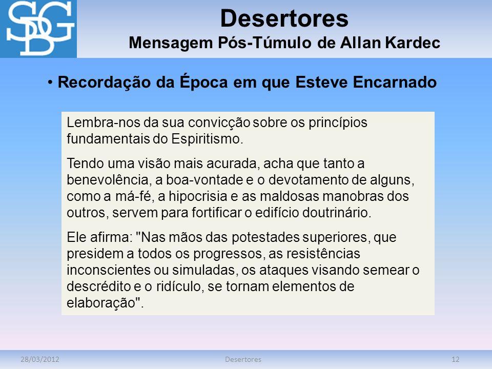 Mensagem Pós-Túmulo de Allan Kardec