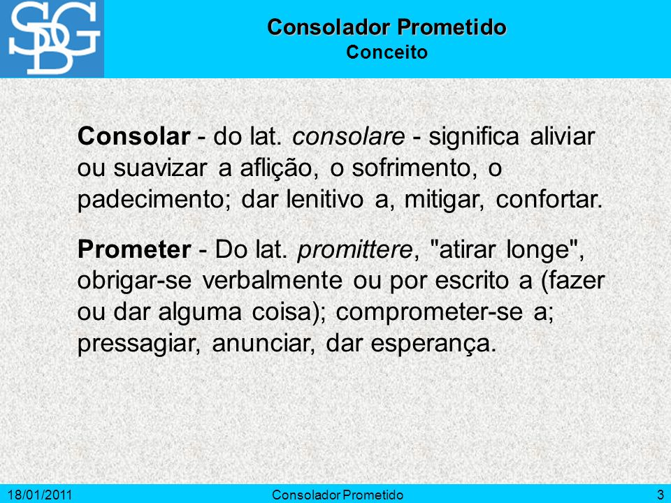 Consolador Prometido Conceito.
