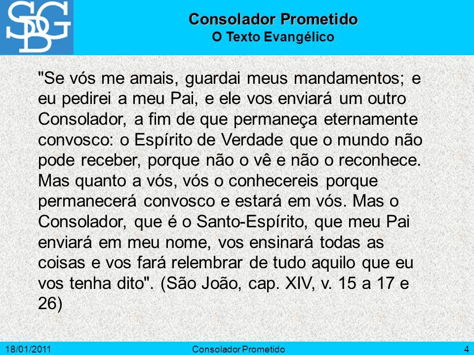 Consolador Prometido O Texto Evangélico.