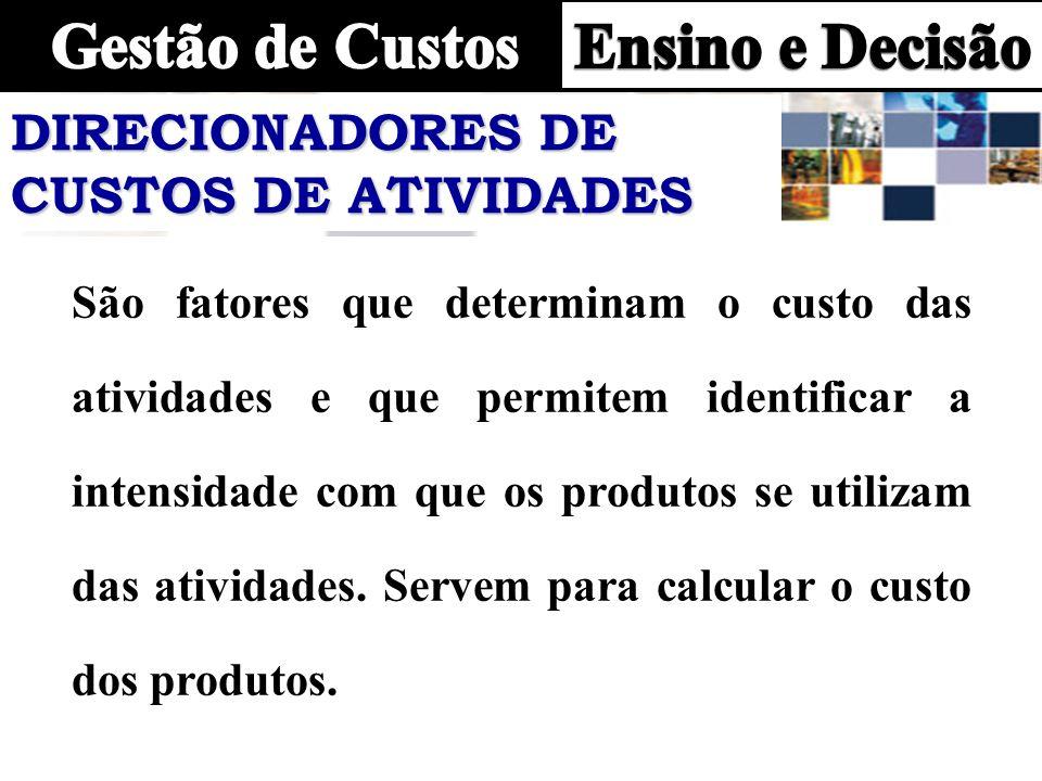 DIRECIONADORES DE CUSTOS DE ATIVIDADES
