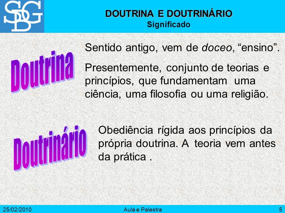 DOUTRINA E DOUTRINÁRIO