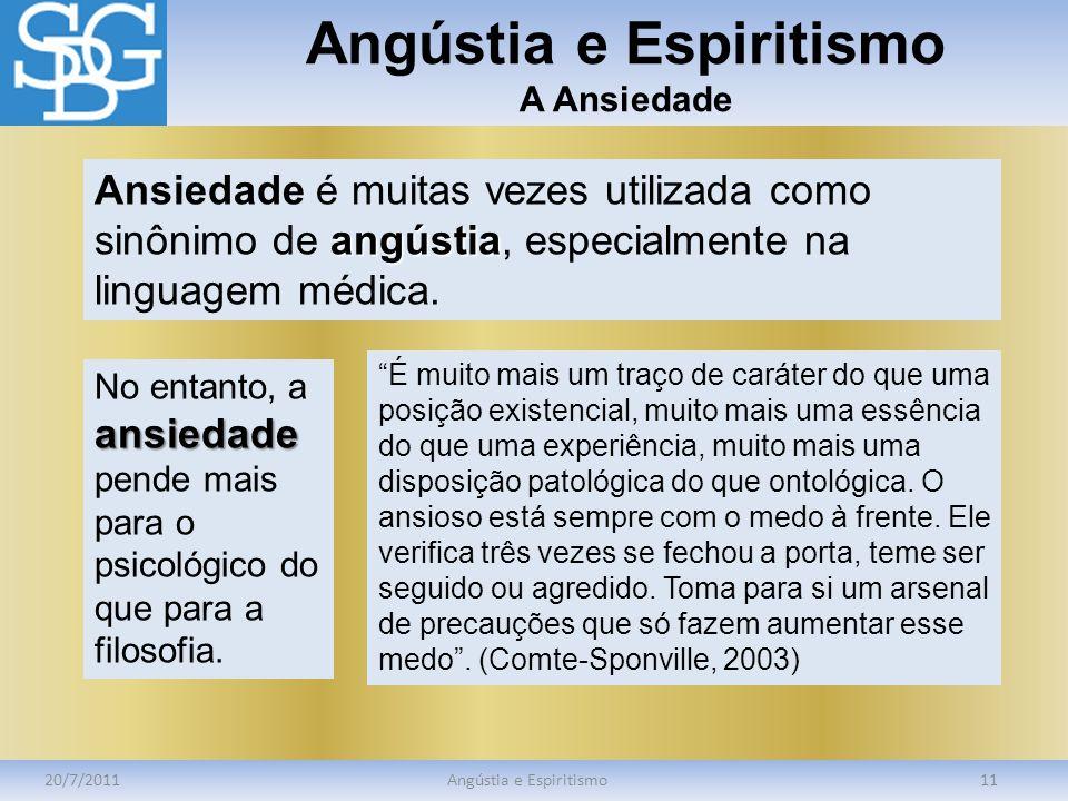 Angústia e Espiritismo A Ansiedade