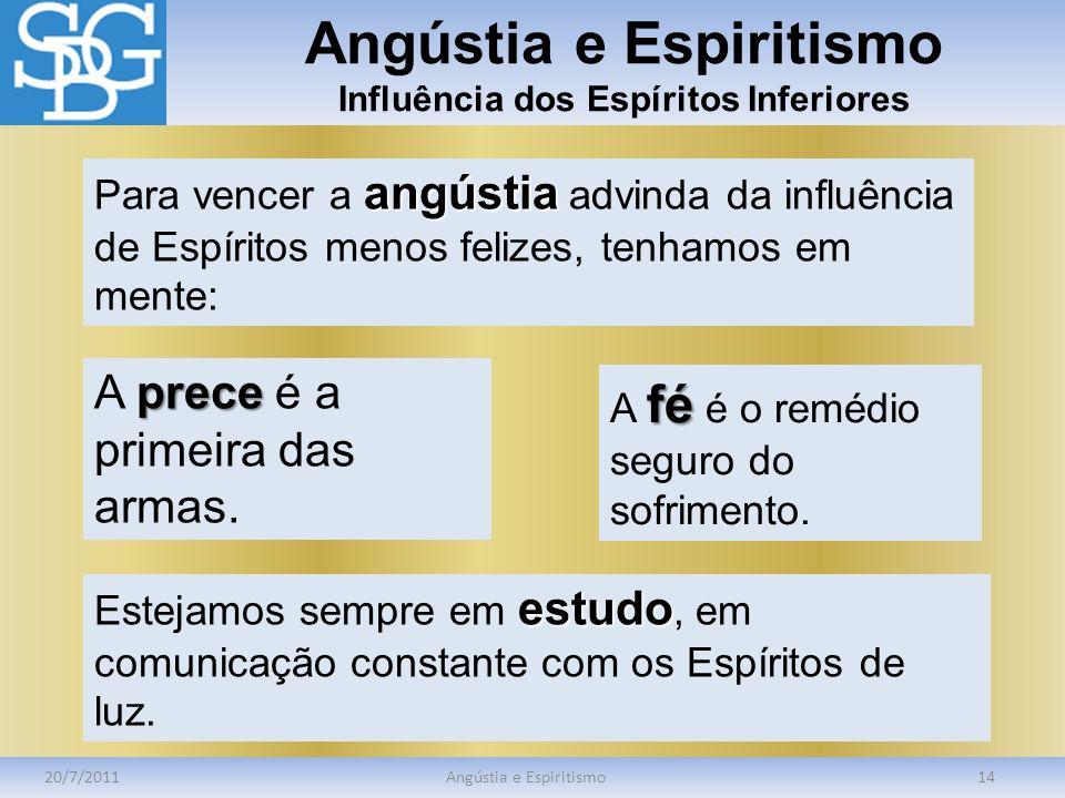 Angústia e Espiritismo Influência dos Espíritos Inferiores