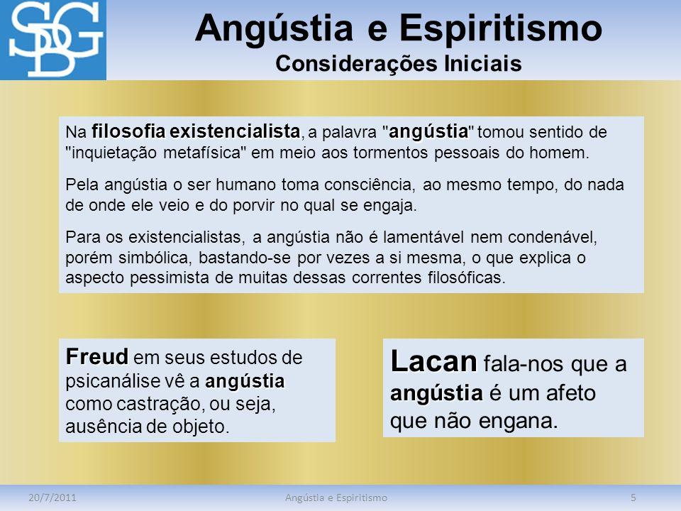 Angústia e Espiritismo Considerações Iniciais