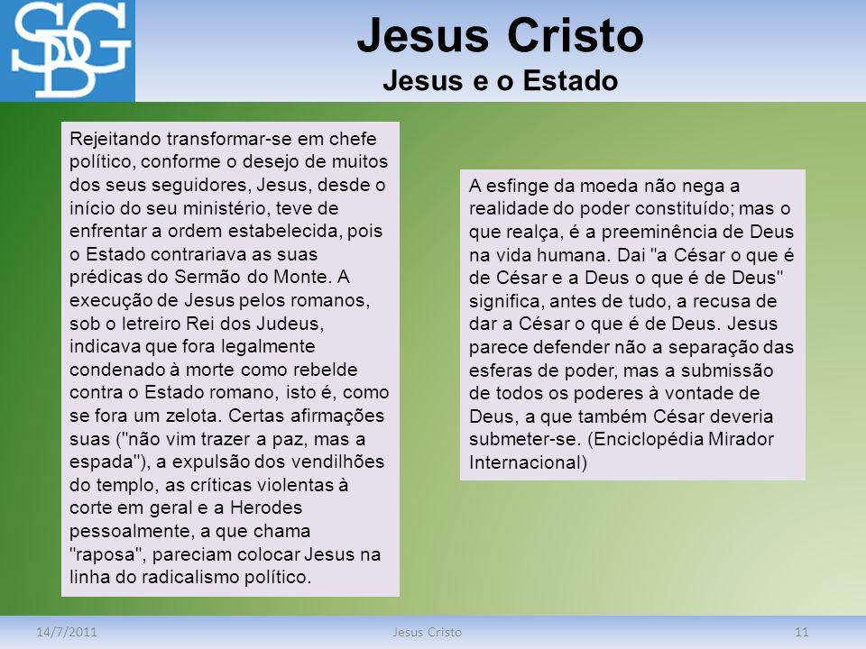 Jesus Cristo Jesus e o Estado