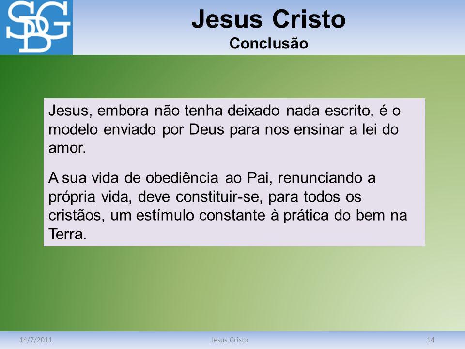 Jesus Cristo Conclusão
