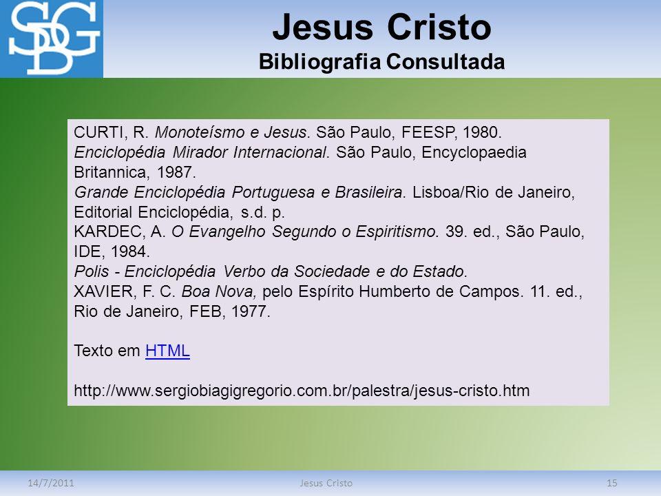 Jesus Cristo Bibliografia Consultada