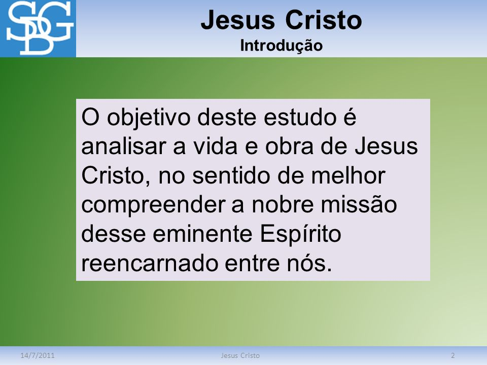 Jesus Cristo Introdução