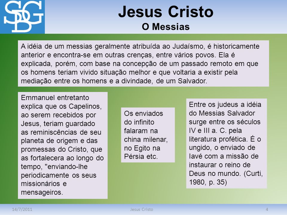 Jesus Cristo O Messias