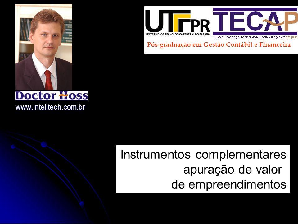 Instrumentos complementares apuração de valor de empreendimentos