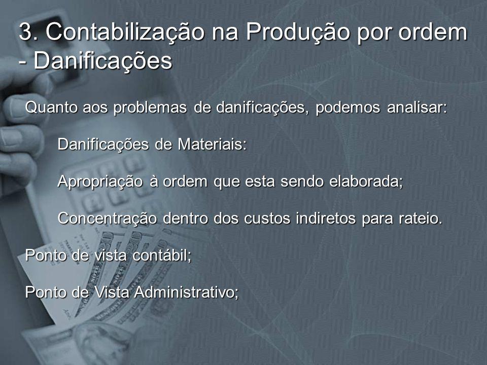 3. Contabilização na Produção por ordem - Danificações