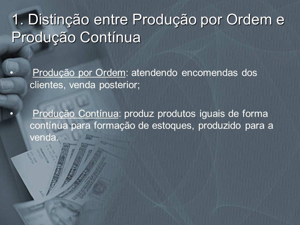 1. Distinção entre Produção por Ordem e Produção Contínua