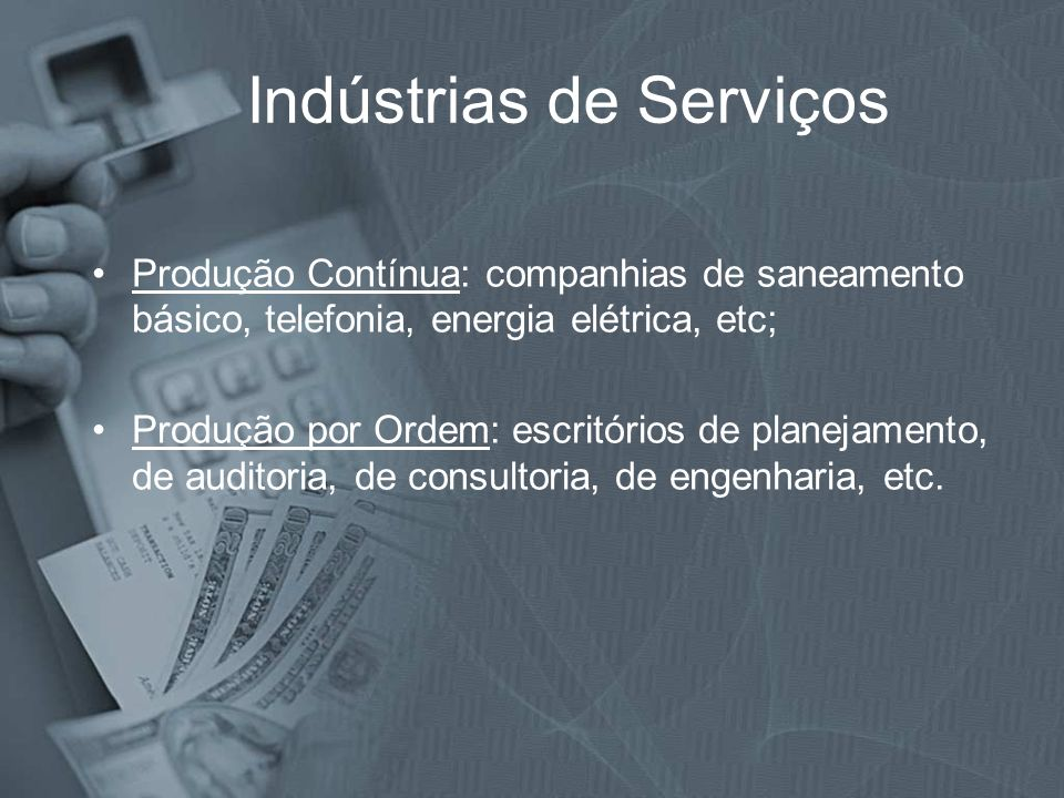 Indústrias de Serviços