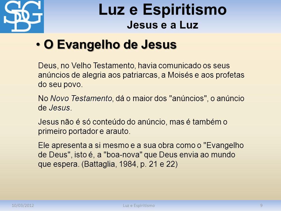 Luz e Espiritismo Jesus e a Luz
