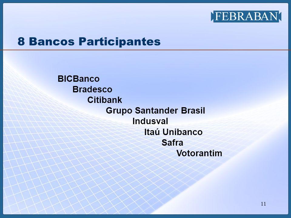 8 Bancos Participantes BICBanco Bradesco Citibank