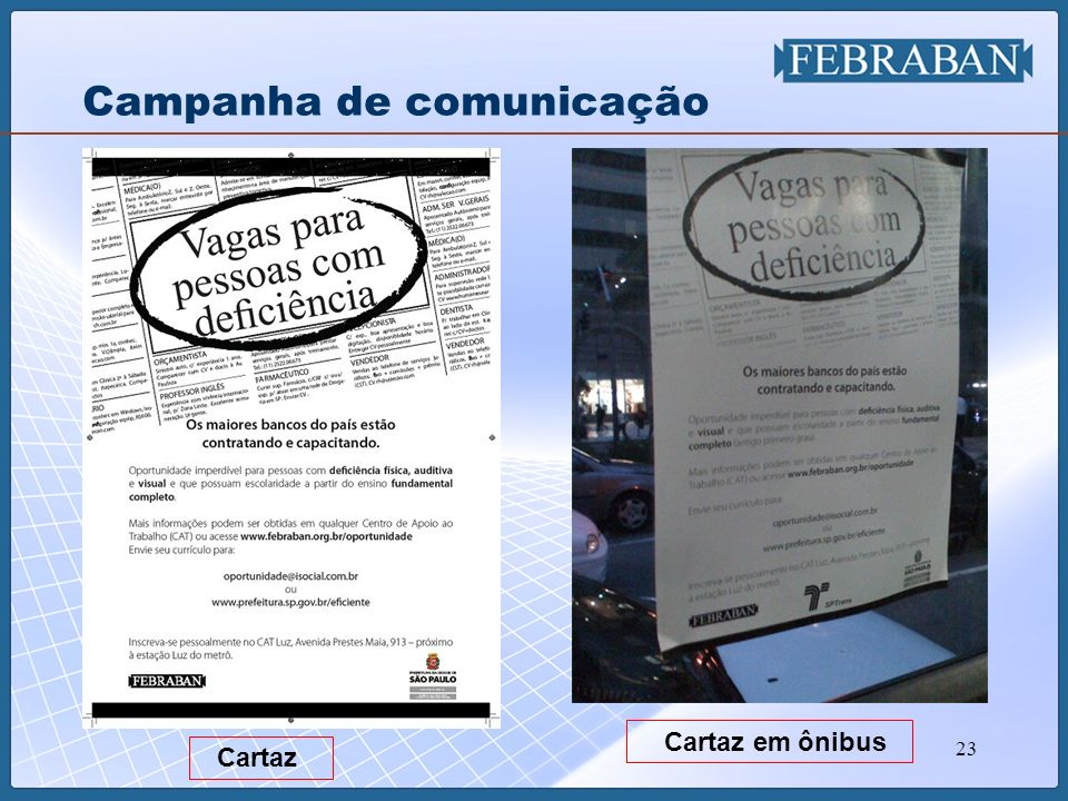 Campanha de comunicação