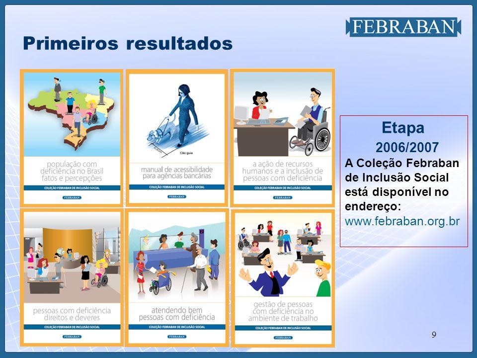Primeiros resultados 2006/2007 Etapa A Coleção Febraban