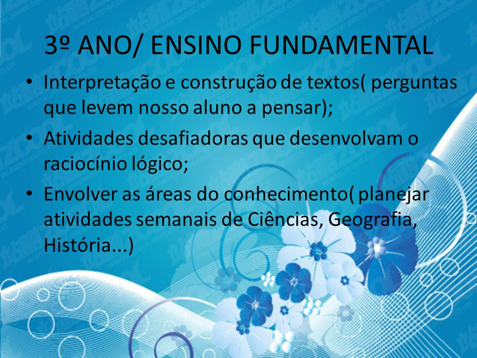 3º ANO/ ENSINO FUNDAMENTAL